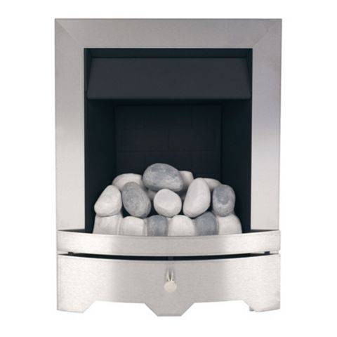 Valor Seattle Silver & Black Inset Gas Fire