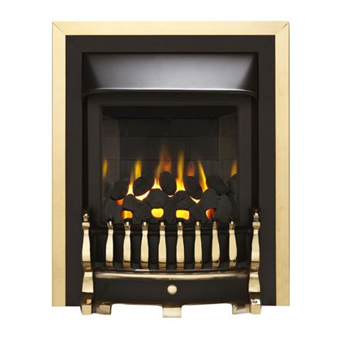 Valor Blenheim Black & Brass Inset Gas Fire