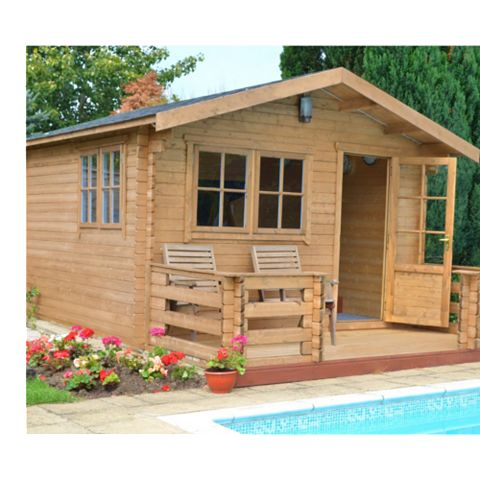 Kinver 12X12 Loglap Timber Log Cabin - Assembly Required
