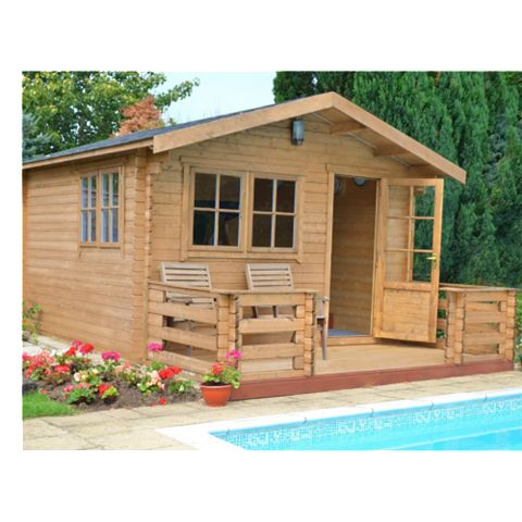 Kinver 12X14 Loglap Timber Log Cabin - Assembly Required