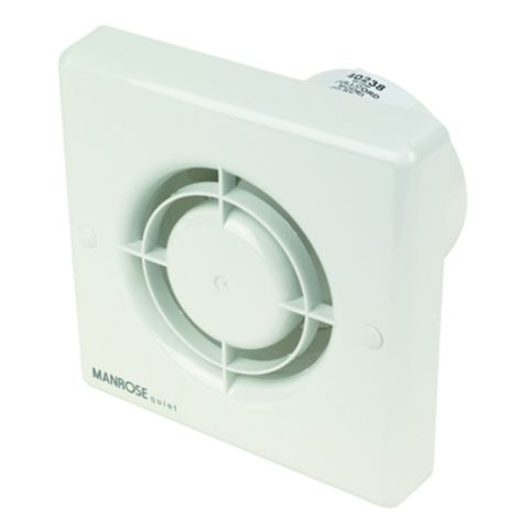 Manrose Bathroom Extractor Fan with Pullcord