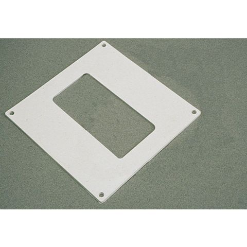 Manrose White Rectangular Plate (H)155mm