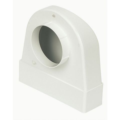 Manrose White Connector (H)204mm