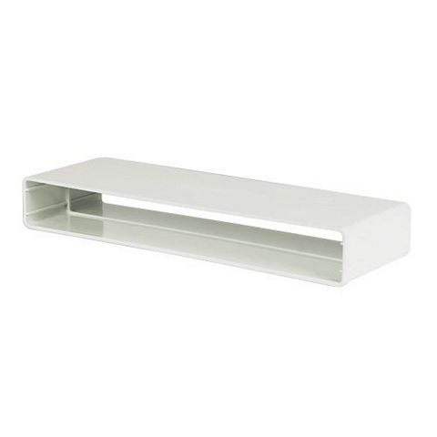 Manrose White Flat Channel Ducting (H)28mm (W)225mm