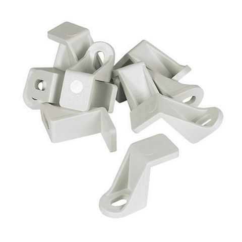 Manrose White Ducting Clips (H)17mm, Pack of 10