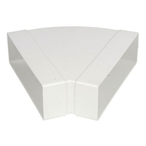 White Horizontal 45 Degree Bend (W)225mm