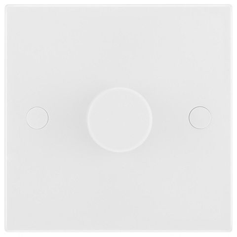 British General 2-Gang 2-Way White Push Dimmer Switch