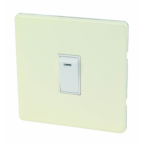 Varilight 1-Gang 20A Cream Switch