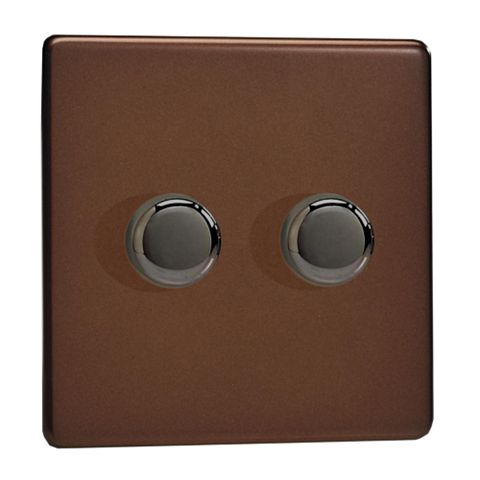 Varilight 2-Way Double Mocha Double Dimmer Switch