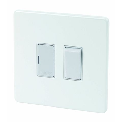 Varilight 13A 1-Gang White Gloss Control Unit