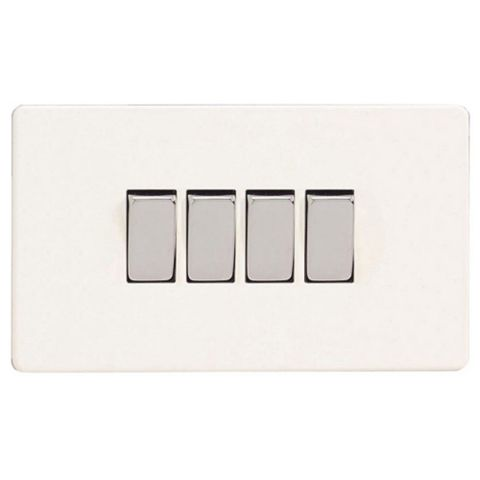 Varilight 10A 2-Way Ice White Quadruple Light Switch