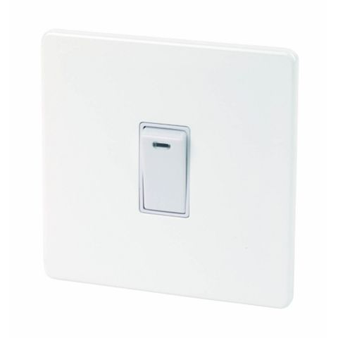 Varilight 1-Gang 20A White Switch