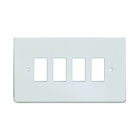 Varilight 4-Gang White Faceplate