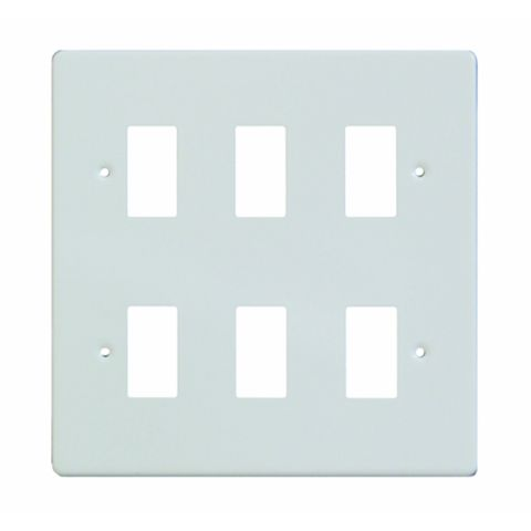 Varilight 6-Gang White Cover Plate