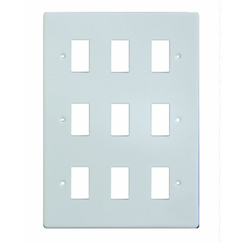 Varilight 9-Gang White Cover Plate