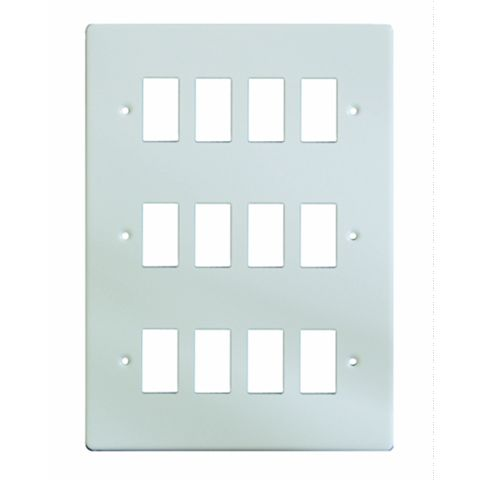 Varilight 12-Gang White Cover Plate