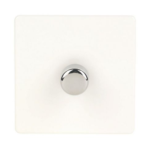 Varilight 1-Gang 2-Way White Push LED Dimmer Switch