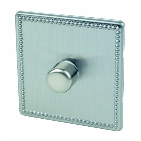 Varilight 1-Gang 2-Way Beaded Steel Push LED Dimmer Switch