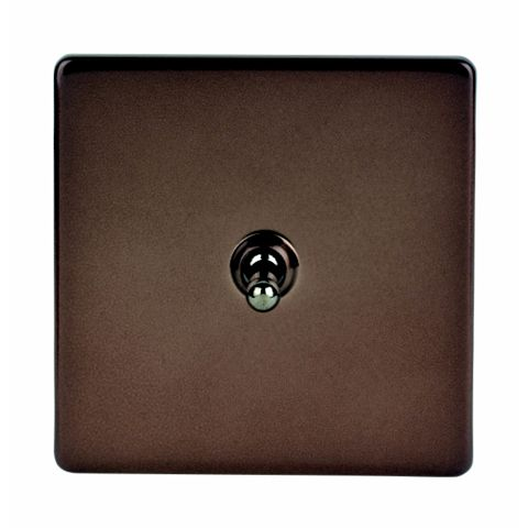 Varilight 1-Gang 2-Way 10A Brown Toggle Switch