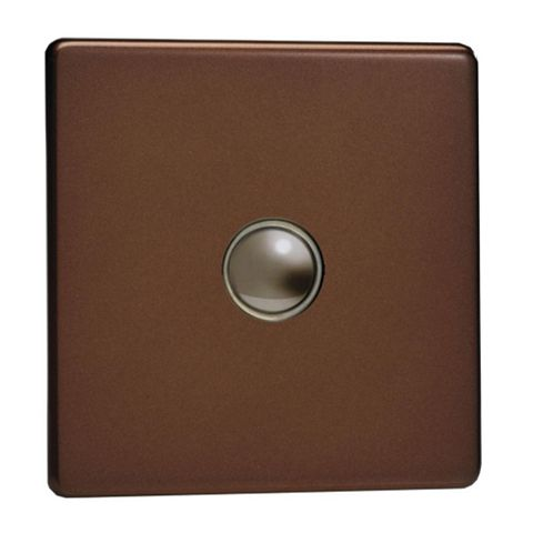 Varilight 6A 2-Way Single Mocha Single Push Light Switch