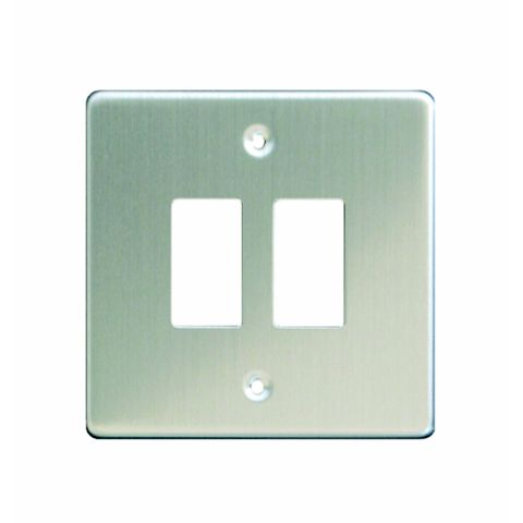 Varilight 2-Gang Steel Cover Plate