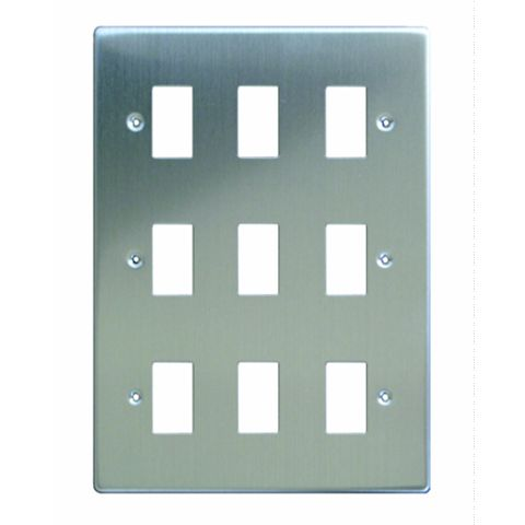 Varilight 9-Gang Steel Cover Plate