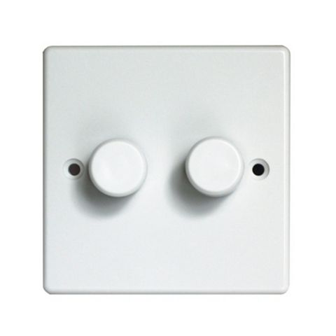 Varilight V-Plus 2-Way White Double Dimmer Switch