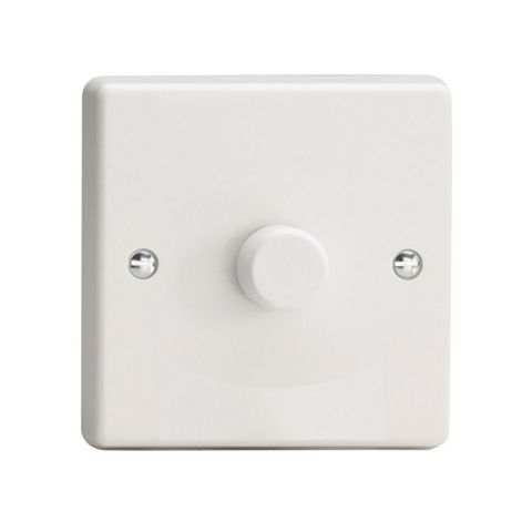Varilight V-Plus 2-Way White Single Dimmer Switch
