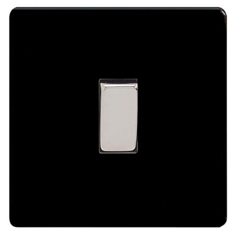 Varilight 10A 3-Way Single Jet Black Intermediate Light Switch