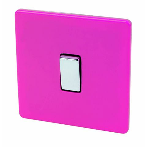 Varilight 1-Gang 2-Way 10AX Pink Switch