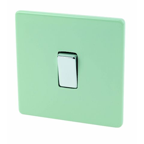 Varilight 1-Gang 2-Way 10A Green Switch