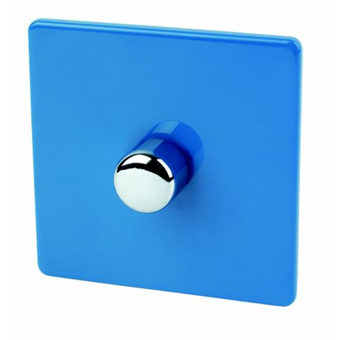 Varilight 1-Gang 2-Way Blue Push LED Dimmer Switch