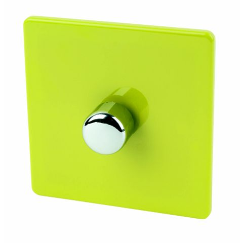 Varilight 1-Gang 2-Way Green Push LED Dimmer Switch