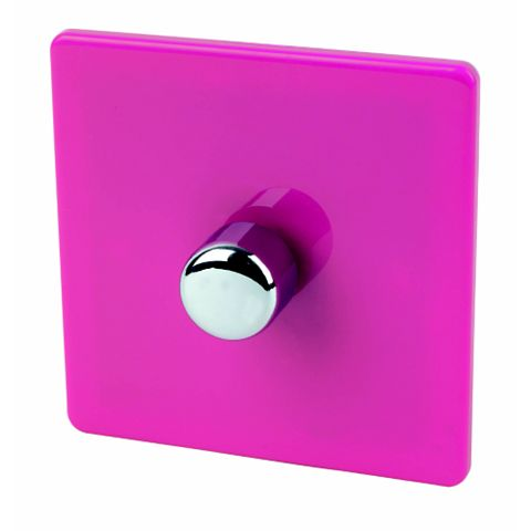 Varilight 1-Gang 2-Way Pink Push LED Dimmer Switch