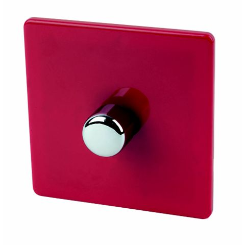 Varilight 1-Gang 2-Way Red Push LED Dimmer Switch