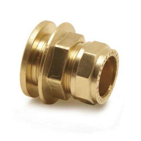Pegler Compression Flanged Tank Connector (Dia)22 mm