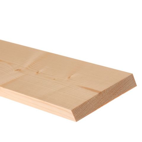 Softwood Smooth Planed Timber (L)1800mm (W)70mm (D)18mm, Pack of 4