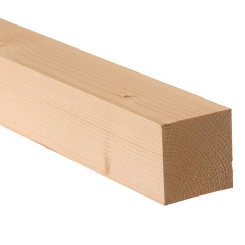 Softwood Smooth Planed Timber (L)2400mm (W)44mm (D)44mm, Pack of 4