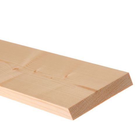 Softwood Smooth Planed Timber (L)2400mm (W)70mm (D)18mm, Pack of 4
