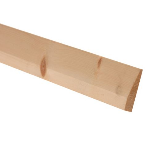 Metsawood Untreated Chamfered Skirting (L)2400mm (W)69mm (T)15mm