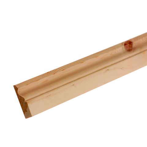 Metsawood Natural Untreated Redwood Ogee Architrave (L)2100mm (W)69mm (T)19.5mm