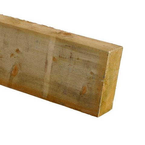 Treated Timber Sawn (T)47mm (W)100mm (L)2400mm, Pack of 4