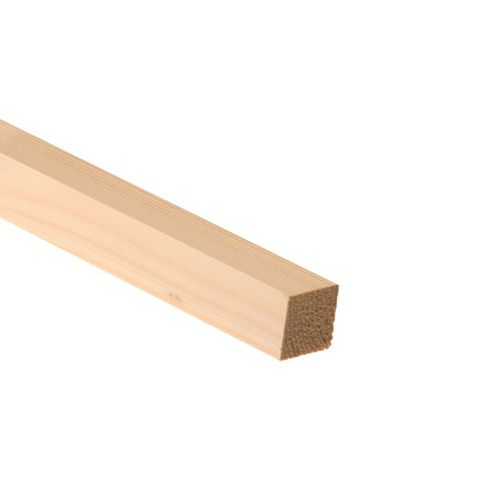 Plain Timber Planed Unfinished (T)34mm (W)34mm (L)2400mm, Pack of 12