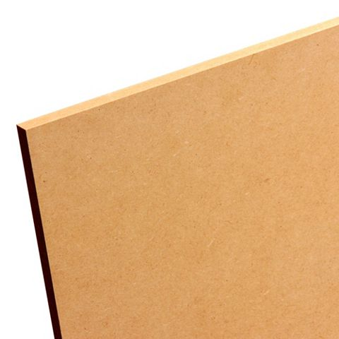 MDF Board (L)1220mm (W)606mm (Th)18mm Pack 2