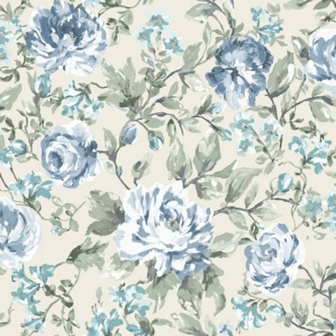 Painterly Floral Wallpaper
