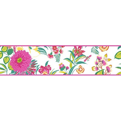 Cocktail Multicolour Floral Border
