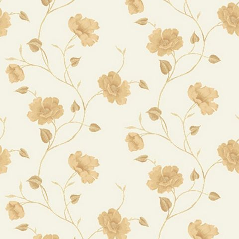 Bella Trail Cream Floral Wallpaper