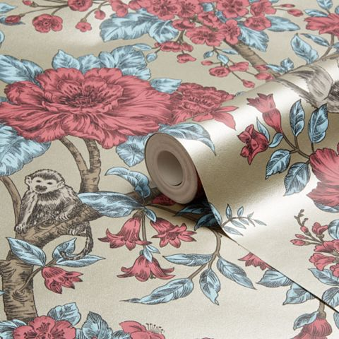 Sumatra Gold Floral Wallpaper