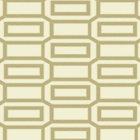 Links Beads Cream Geometric Wallpaper