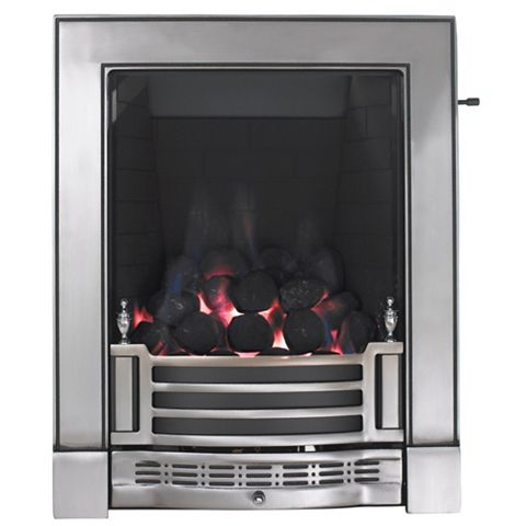 Finsbury Full Depth Satin Chrome Effect Slide Control Inset Gas Fire